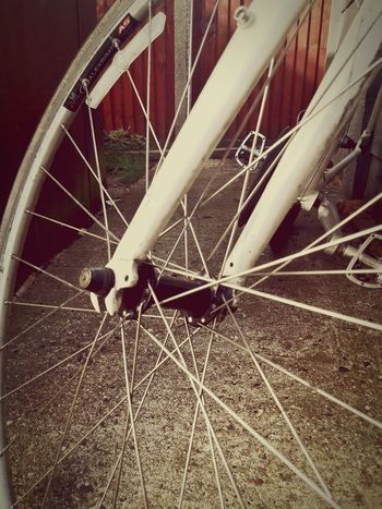 Wheel Transportation Bicycle Land Vehicle Mode Of Transport Spoke Part Of Metal Cropped Tire Close-up Parked Stationary No People Coil Focus On Foreground