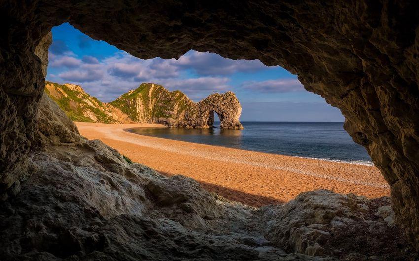 Rock formations at durdle door beach