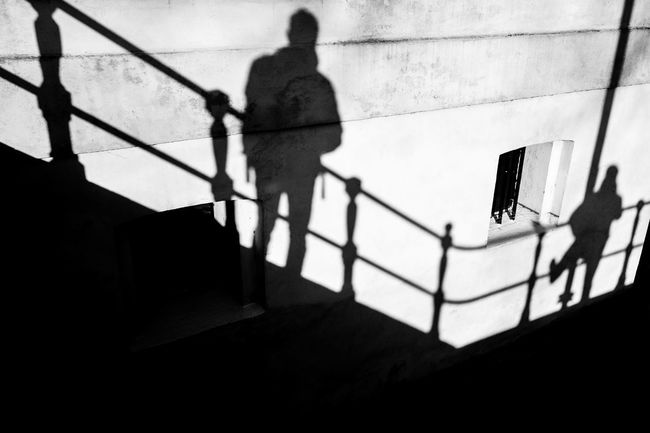 Shadow with fence Scheepvaartmuseum Shadowplay Adult Architecture Contrast Day Fence Full Length Indoors  Lifestyles Men One Person People Real People Shadow Silhouette