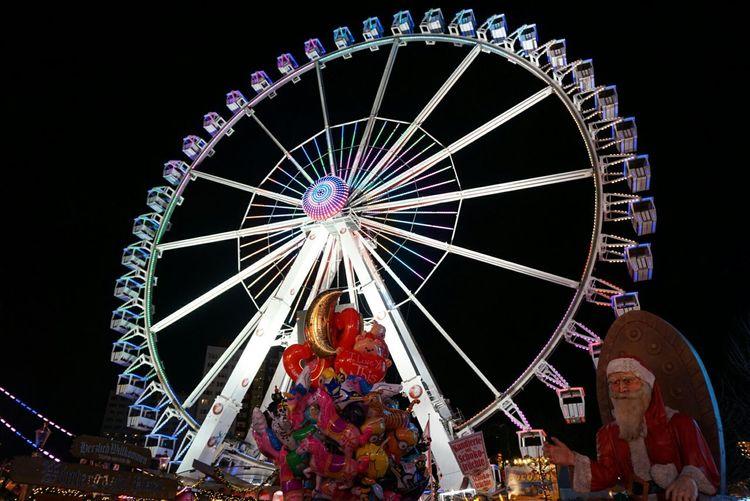 Christmas Lights Christmas Market Ferris Wheel Lights Santa Streetphoto_color