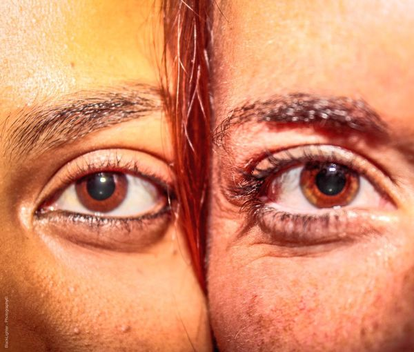 Face2Face💯 Eye Human Eye Looking At Camera Body Part Human Body Part Eyesight Two People Portrait Human Face Adult Close-up Eyeball Women Eyelash Real People Sensory Perception Eyebrow Togetherness