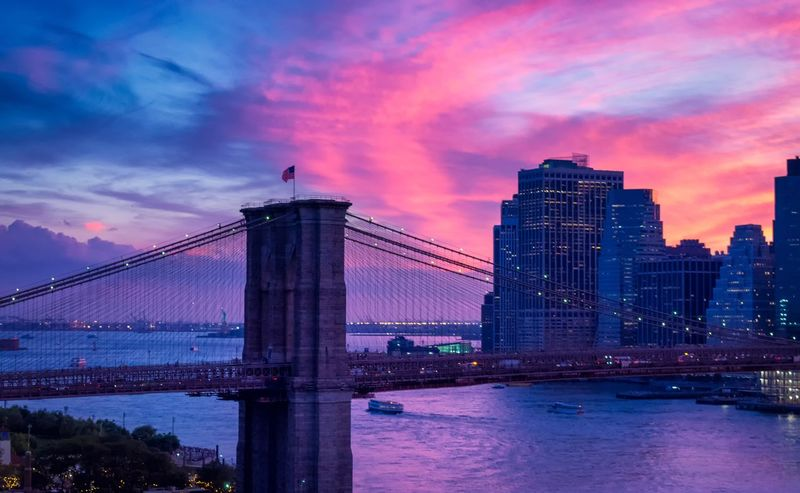 Architecture Sky Connection Cloud - Sky Built Structure Bridge - Man Made Structure Suspension Bridge Sunset Travel Destinations City