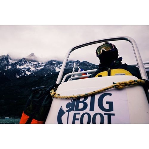 Captain commandeering a boat to Glaciar Grey, Patagonia. Travel Travelphotography Vscocam Ricohgr latergram
