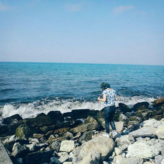 Hanging Out That's Me Enjoying Life Tumblr Me BlueHair Enjoy Sea Seaside Turkey