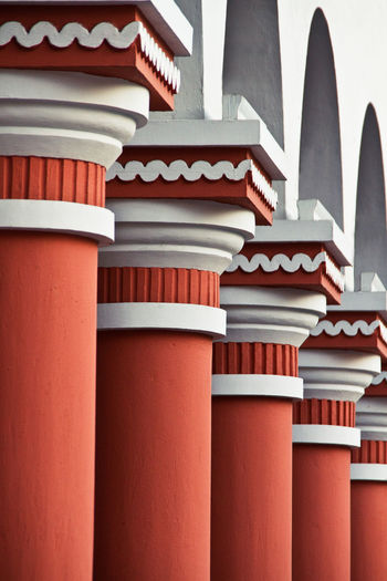 Low angle view of columns