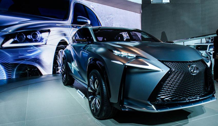 Car Close-up Concept Car Detroit Auto Show 2014 Headlight Land Vehicle Lexus Mode Of Transport Transportation Wheel