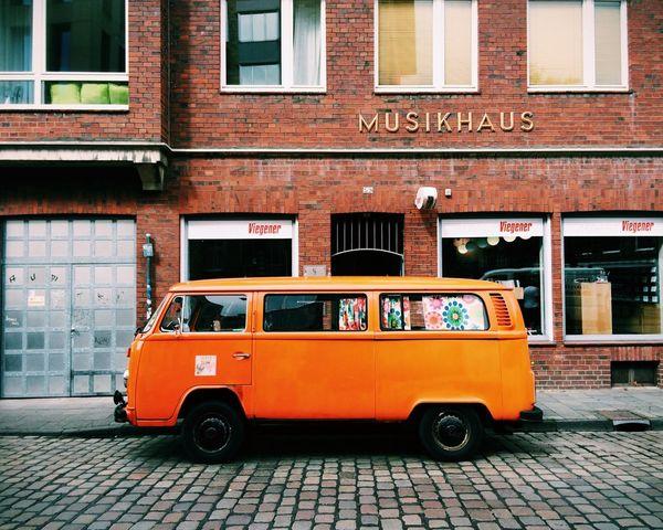 70s Orange VW Bus