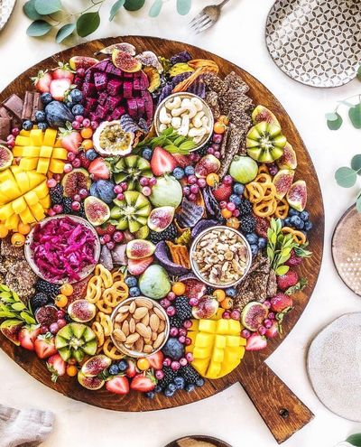Food Food And Drink Healthy Eating Fruit Freshness Indoors  High Angle View Directly Above No People Variation Chia Seed Ready-to-eat Vegetarian Food Multi Colored Day Close-up Detox Fruit Detox Naturally Detox Food Beatiful