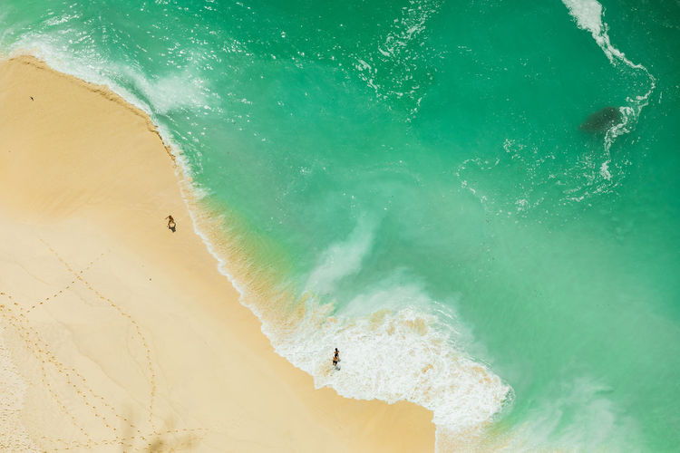 Aerial view of people on beach