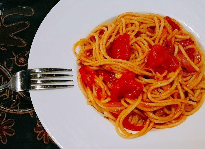Pasta Plate Food Food And Drink Italian Food Spaghetti Fork