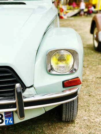 Car Transportation Land Vehicle Mode Of Transport Headlight Close-up Outdoors No People Day Citroen Retro Vintage Cars Vintage