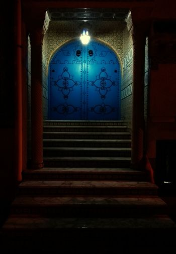 Steps Illuminated King - Royal Person Staircase Door Entrance Architecture