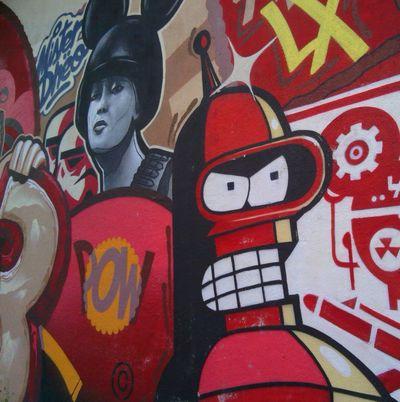 Bender Bending Graffiti Graffiti Art Graffiti Wall Lisbon City Life Lx Mickey Mouse Helmet Pow Red