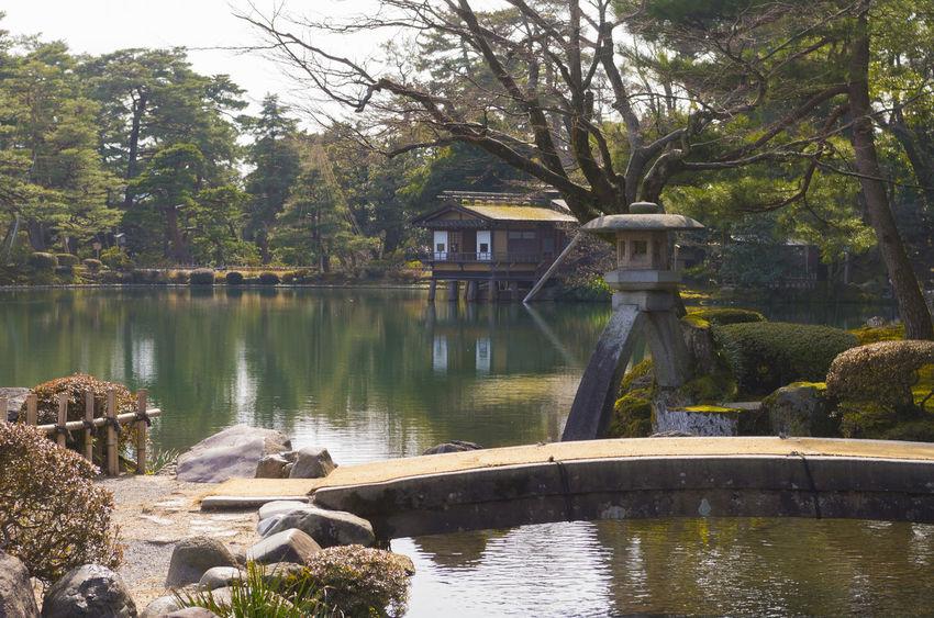 Kenroku-En Japanese Garden Pond Garden Outdoors Reflection Stone - Object Tranquility Tree