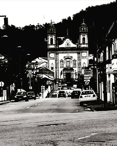 Street City Street Architecture City City Life Built Structure Outdoors Church Portugal Valongo Black And White Friday The Street Photographer - 2018 EyeEm Awards