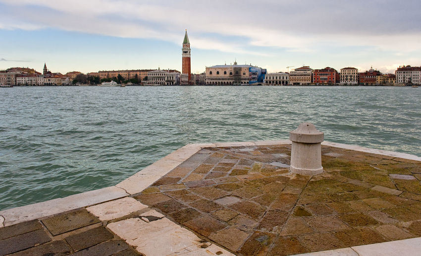 Grand canal against sky in city