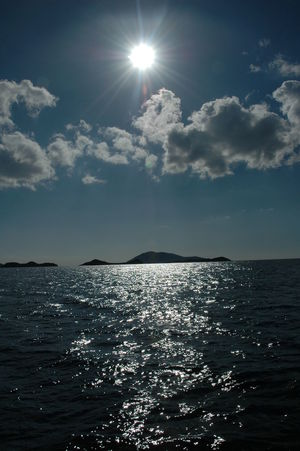bes adalar - the 5 islands in kas EyeEmNewHere Sun Sunbeam Sunlight Sea Sky Nature Lens Flare Beauty In Nature Tranquility Water Scenics Horizon Over Water Tranquil Scene Outdoors No People Cloud - Sky Shiny Day