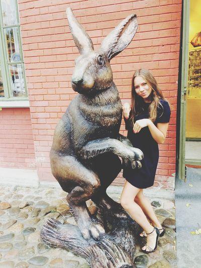 Big bunny Bunny  Hello World Sankt-peterburg Sculpture