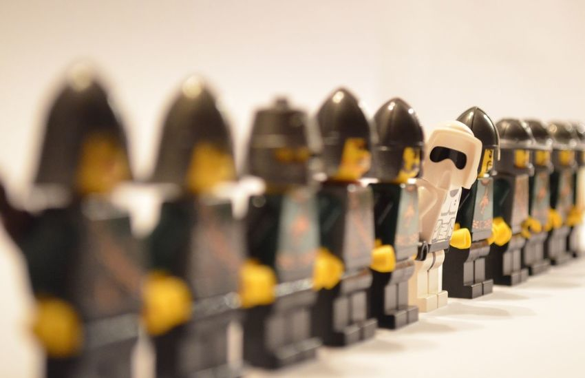 Diversity Knights LEGO Lego Mini Figures Stormtrooper Abundance Arrangement Caricature Close-up Competition Day Human In A Row Indoors  Large Group Of Objects Lego Photography No People Ritter Selective Focus Sport Stoormtroopers