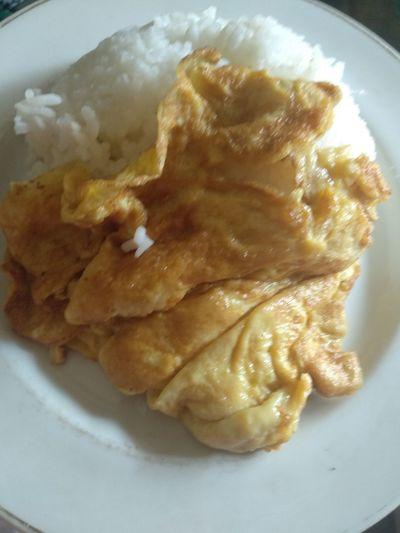 Egg Food Makananindonesia Makanansederhana Nasiputih Telurdadar