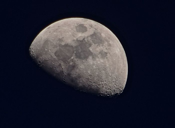 Close-Up Of Moon At Night