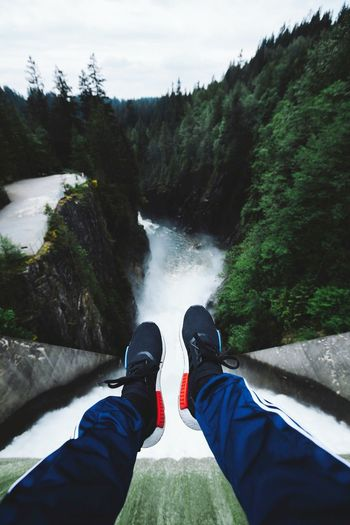 يا زينها من ايام 😆😁👍 Human Body Part Personal Perspective Shoe Adventure Exploration Water River Waterfall One Man Only Day Outdoors Journey People Travel Destinations Adult Nature Beauty In Nature One Person Scenics Travel