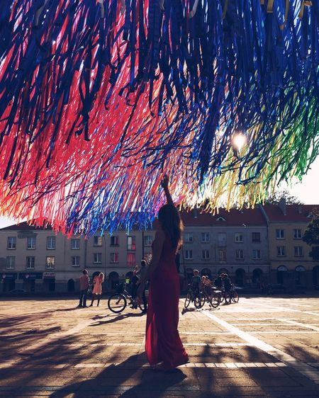 The Magic Mission Architecture City City Life Colorful Portrait Streetart Outdoors Sunlight Sunset Silhouettes Silhouette People Sunset Majestic