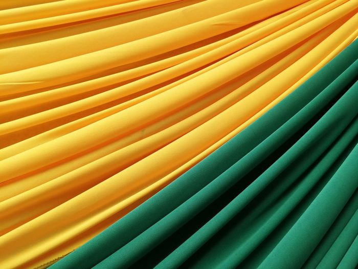 Full frame shot of yellow and green textile