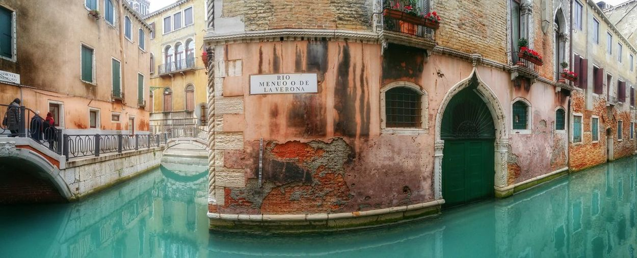 Panoramic shot of old building in grand canal