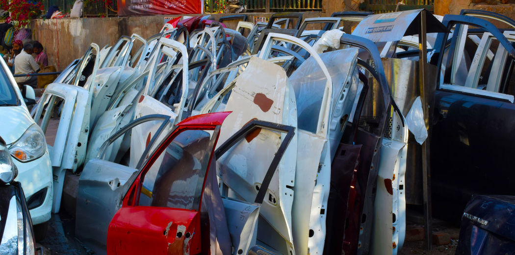 Car Doors Car Door Car Door Bundle Car Door On Street Car Doors For Repairing Damaged Car Doors For Sale Large Group Of Objects Red Car Door Used Car Doors