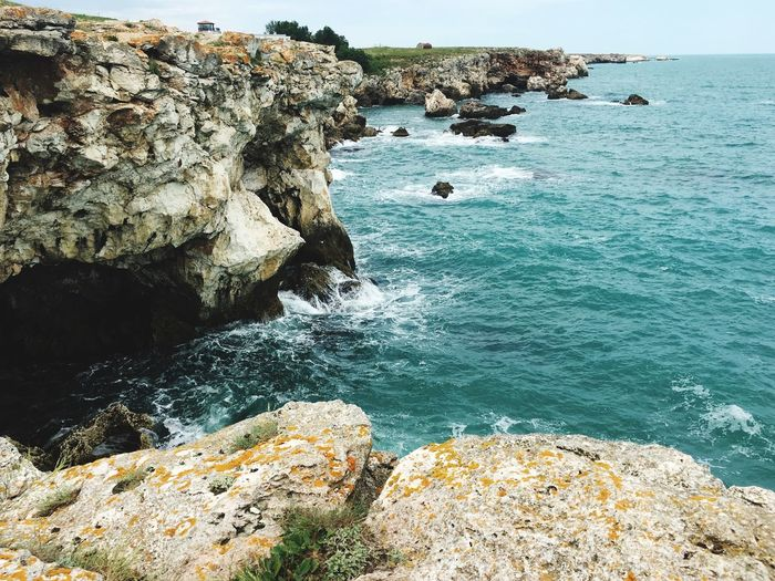 Tulenovo,bulgaria Bulgaria Blacksea Waves Crashing Cliffs Nature
