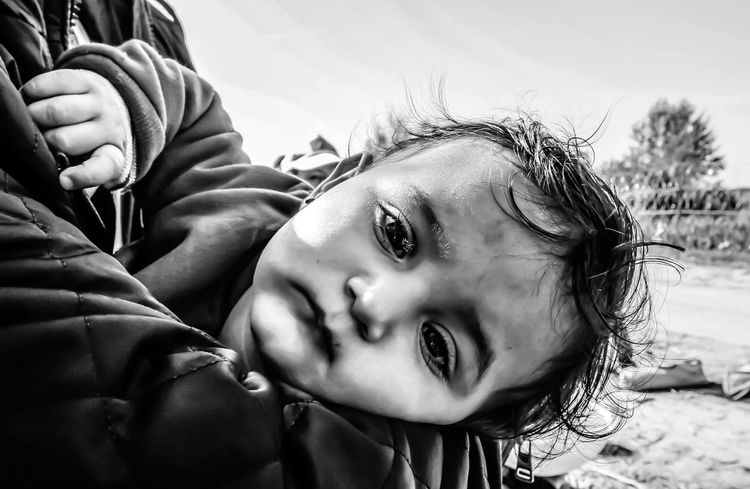 Untold Stories Refugees Refugeeswelcome Helping Refugees Blackandwhitephotography Blackandwhite Baby Portrait The Moment - 2015 EyeEm Awards The Photojournalist - 2015 Eyeem Awar