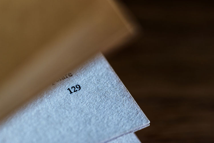 Close-up of number on paper