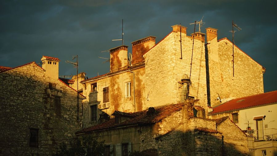 Light in Pula Light And Shadow Light Sky Pula Croatia Architecture Building Exterior Built Structure No People Low Angle View Outdoors Sky Town Day City