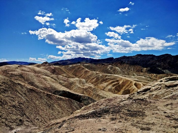 Death Valley Beauty In Nature Blue Climate Cloud - Sky Day Desert Environment Horizon Over Land Land Landscape Mountain Mountain Range Nature No People Non-urban Scene Outdoors Physical Geography Rolling Landscape Scenics - Nature Sky Tranquil Scene Tranquility