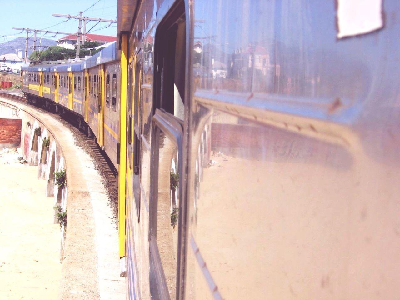 Train Moving On Railway Bridge