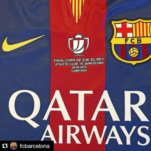 Repost @fcbarcelona ・・ La camiseta especial de la final de Copa Copafcb Campnou FCBarcelona  @fcbarcelona FinalCopa