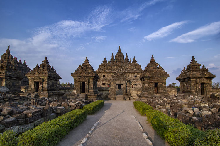 Candi plaosan or plaosan temlple, buddhist temples located in klaten, central java, indonesia