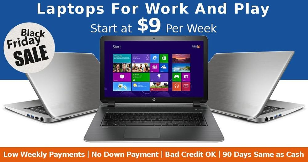 Better than Black Friday‬! Buy your favorite ‪‎laptop‬ this Black Friday and spread the payment over 12 months. Shop Now https://www.retaildeal.biz/computers/laptops.html Buy Now Pay Later On Computers Buy Now Pay Weekly Shop Laptops On Weekly Installments