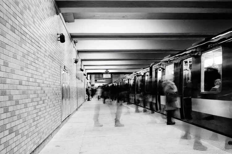 Rush hour Metro MTL First Eyeem Photo Here Belongs To Me