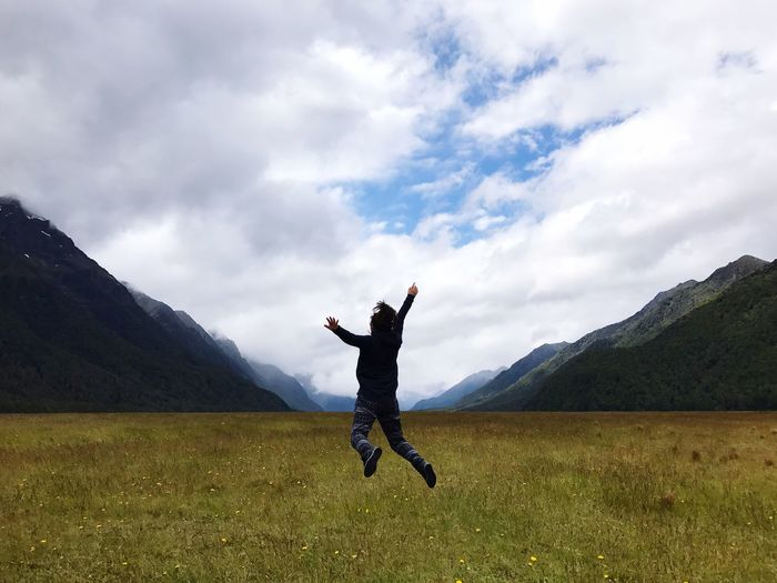 2017 New Year Jump Eglinton Valley Fiordland National Park Lord Of The Rings The Great Outdoors - 2017 EyeEm Awards Let's Go. Together. Been There. Lost In The Landscape