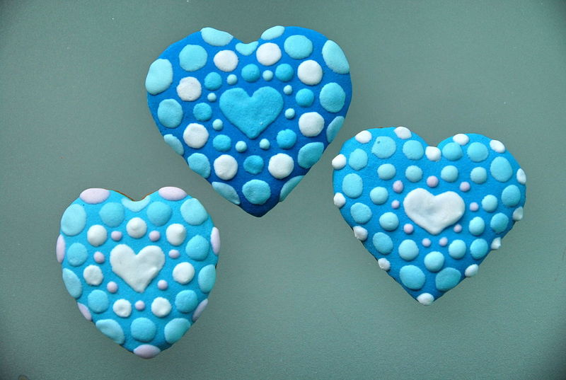 Three Blue Hearts Blue Close-up Cookies Heart Day Gingerbread Heart Heart Shape Large Group Of Objects Love No People Three Hearts Valentine's Day