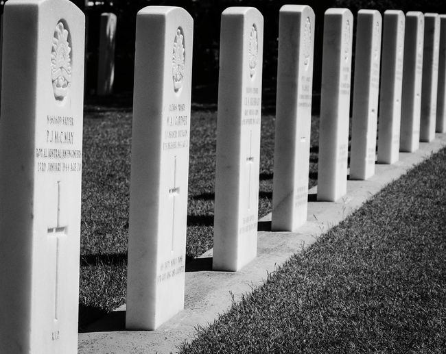 War Graves In A Row No People Outdoors Memorial Black & White Many Objects Cemetery Photography Graveyard Beauty Nikon D5100  Tombstone