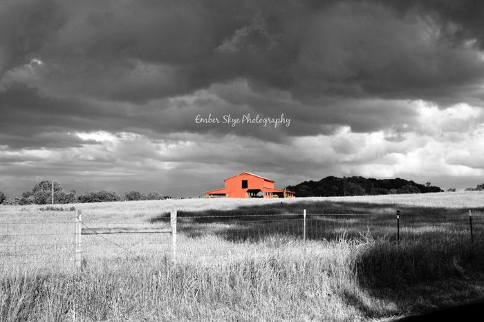 """""""This Old Barn"""" Black and white edition ©2016, Ember Skye Photography. All Rights Reserved Storm Clouds Storm Approaching Landrum SC Barn Field Ember Skye Photography Touch Of Color Followusonfacebook Followusoninstagram Followusontwitter"""
