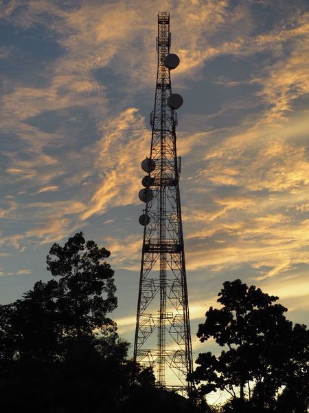 Telco Telcotower Tower TelecommunicationTower Sunset Sky Sky And Clouds Tall - High Trees Technology No People Built Structure Global Communications Scenics Communication Wifi 4g Cloud - Sky