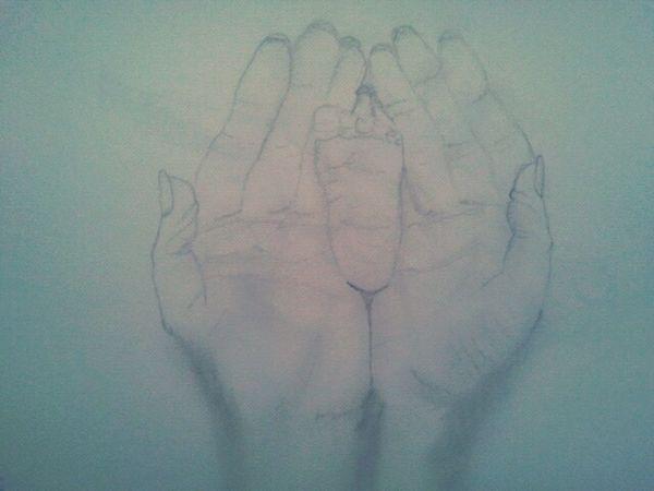 meu desenho! amor pela arte! Mãos PE Love ♥