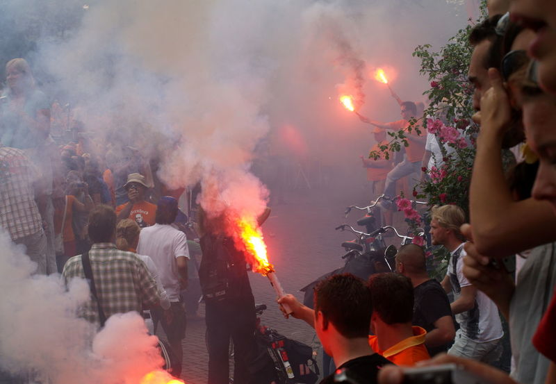 Adult Amsterdam Arjen Robben Boat Can Celebration Ceremony Crowd Day Dutch Dutch Soccer Team Heat - Temperature Holi Large Group Of People Lifestyles Orange Outdoors People Robben  Smoke - Physical Structure Soccer Student Togetherness World Champion World Championship Soccer 2010