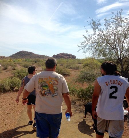 TCPM Mental Health Day Tranquility Family Hike Rear View Real People Vacation Mountain Arizona Day Off