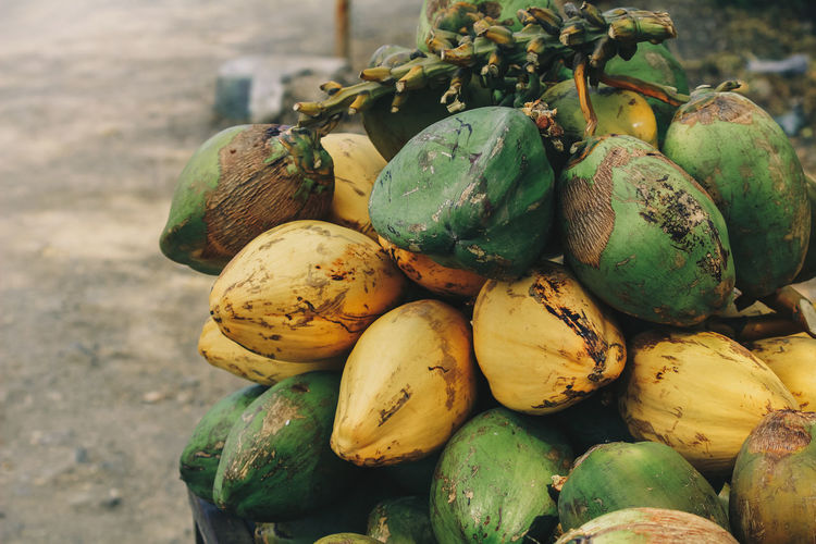 coconut for sale Coconut Coconut Palm Tree Coconut Water Beach Tropical Climate Tropical Fruit Freshness Raw Food Food And Drink Food Day Close-up Drink Lifestyles Vegan Healthy Eating Wellbeing Fruit No People Large Group Of Objects Ripe Market Stall For Sale Green Color Outdoors