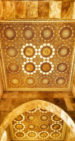 Mandala Mosque Architecture Mosque Mosque Interior Hassan II Mosque Mosque Interior Morocco 🇲🇦 Casablanca Design Architecture No People Close-up Gold Colored Indoors  Art And Craft